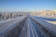 På väg mot Elgå. Vinterlandskap.