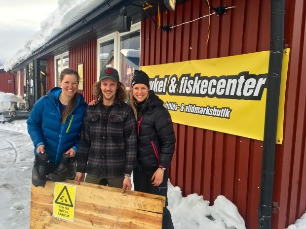 Linnea, Lucas och Erika i Hemavan