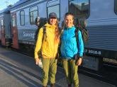 Här startade sommarens äventyr. Tåget upp till Abisko och första målet blev att bestiga Kebnekaise.