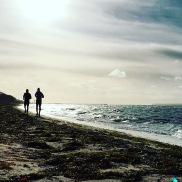 Löpning längs Öresund.